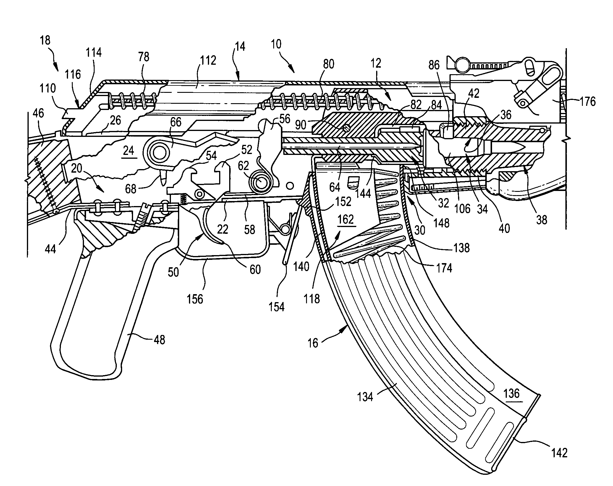 patent us7261029 - firearm bolt locking mechanism