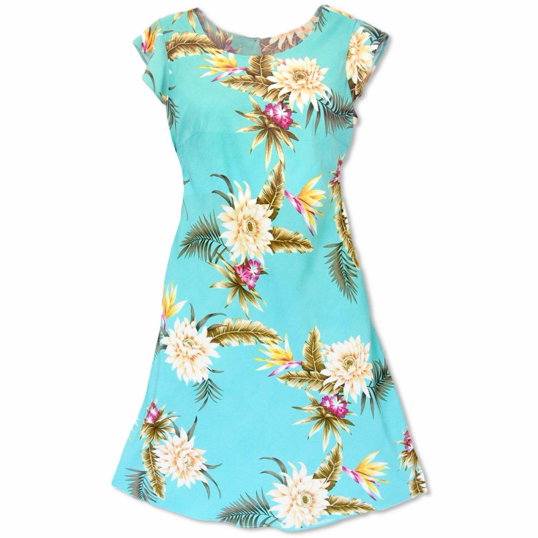Mountain Green XOXO Hawaiian Dress | Hawaiian, Classic dresses and ...