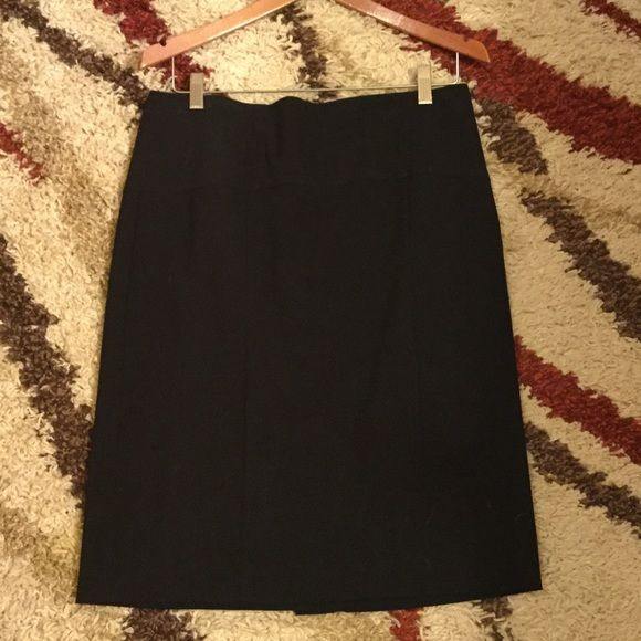 "Black Sz 8 Pencil Skirt Back zip.  Back slit.  Measures 23-1/2"" long. Perfect condition Preswick & Moore Skirts Pencil"