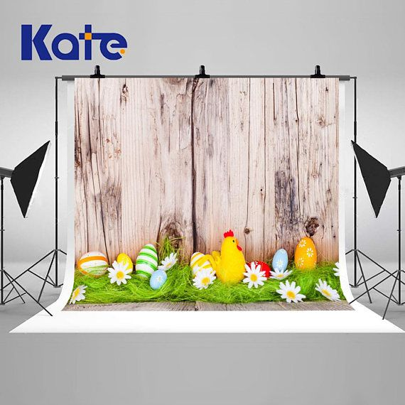 Easter Day Wood Wall Colorful Eggs Decorative Photography Easter - halloween backdrop