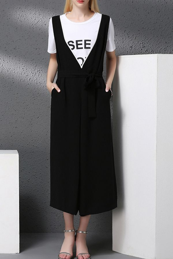 f208cd83bed8 Beading Tie Front Cut Out Jumpsuit