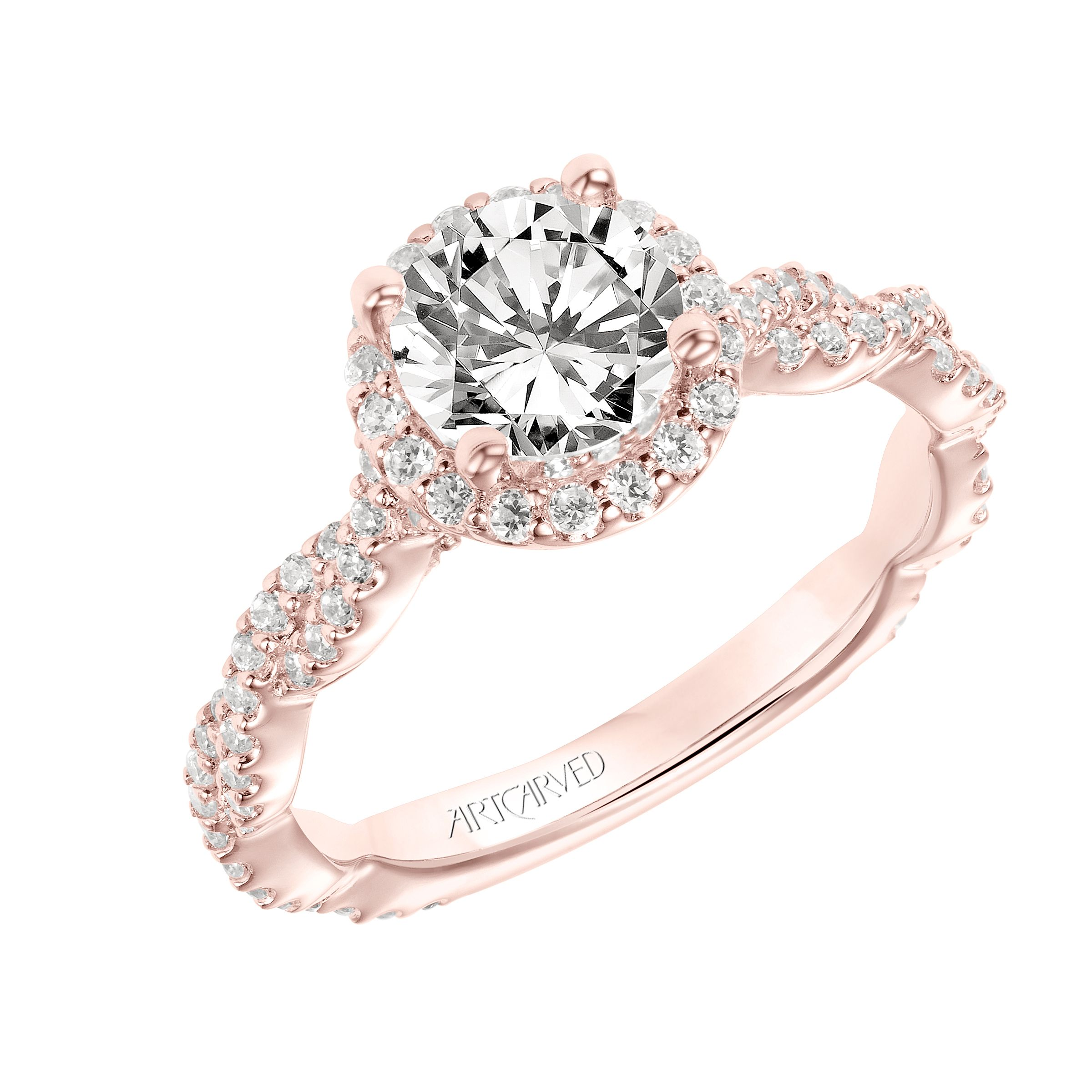 New for our Spring collection Gianna Contemporary Diamond Halo