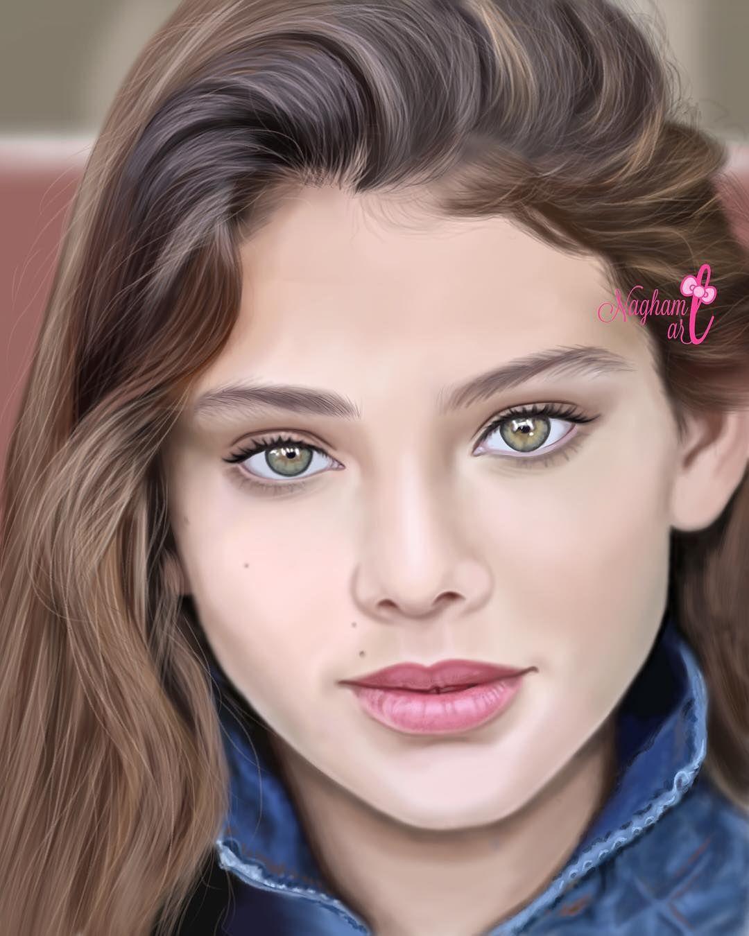 خلفيات بنات كرتونيه رمزيات كرتون للبنات Face Art Screen Wallpaper Image