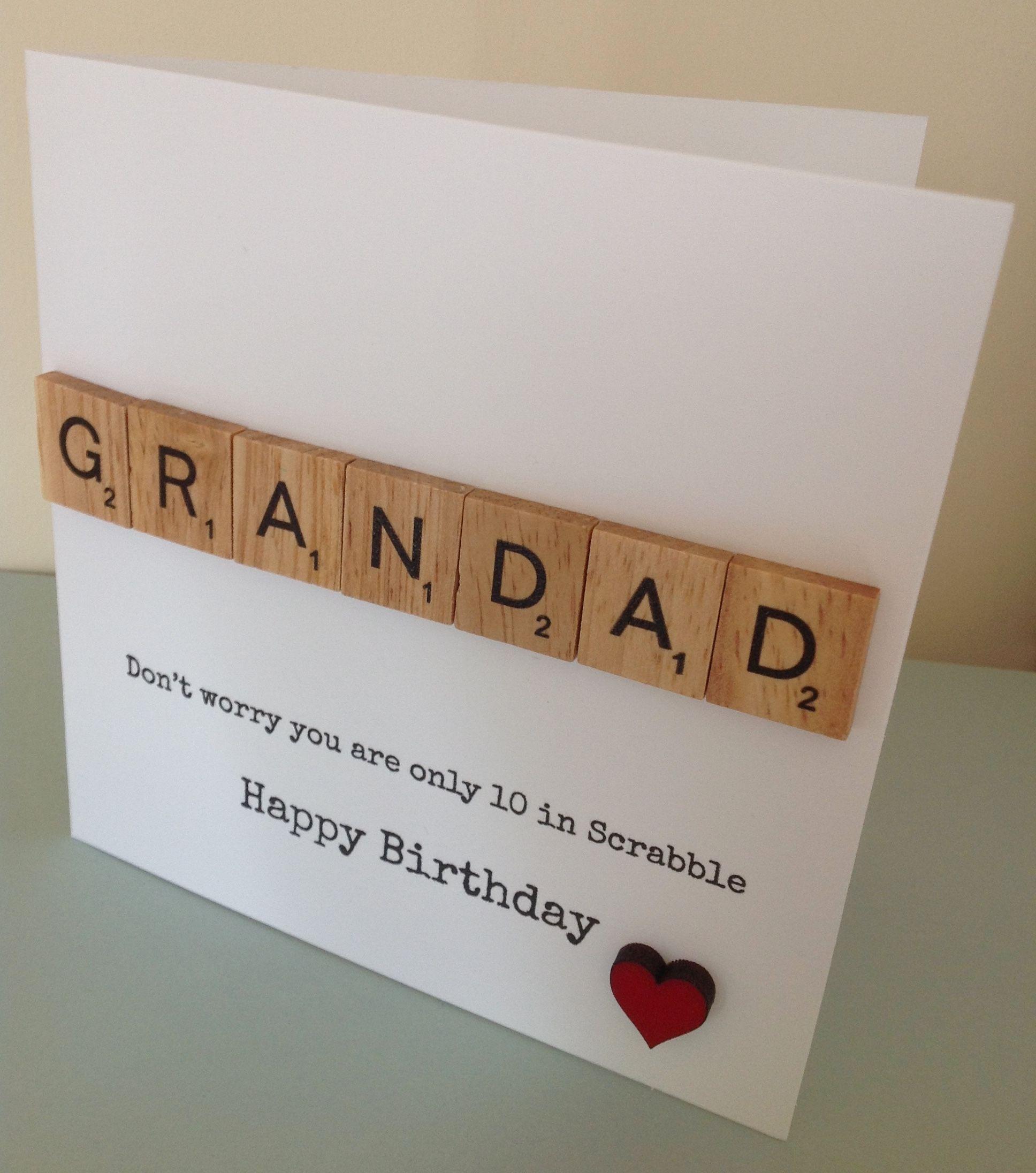 Grandad Birthday Card Facebook FunkyjunkUpcycledUK