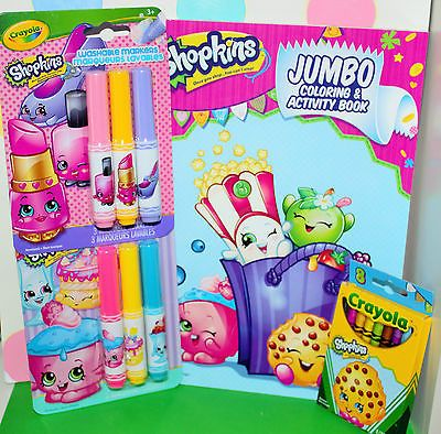 Shopkins Coloring /& Activity Book with Crayons