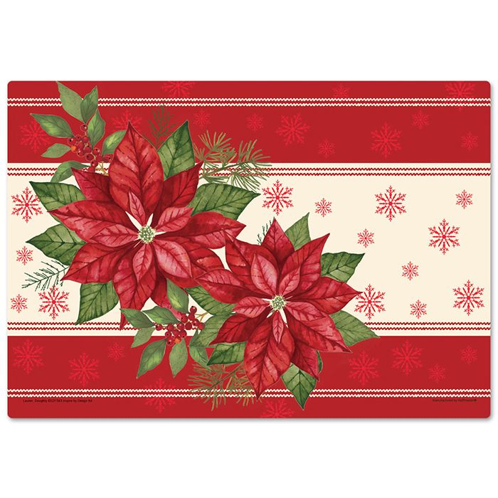 Wholesale Poinsettia Placemats 1000 Ct Napkins Com Christmas Cards Handmade Christmas Placemats Placemats