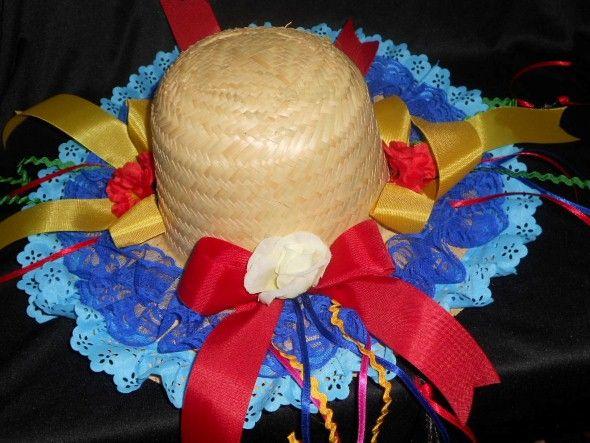 Como decorar chapéu de palha para Festa Junina 007  82f0fbf33f9