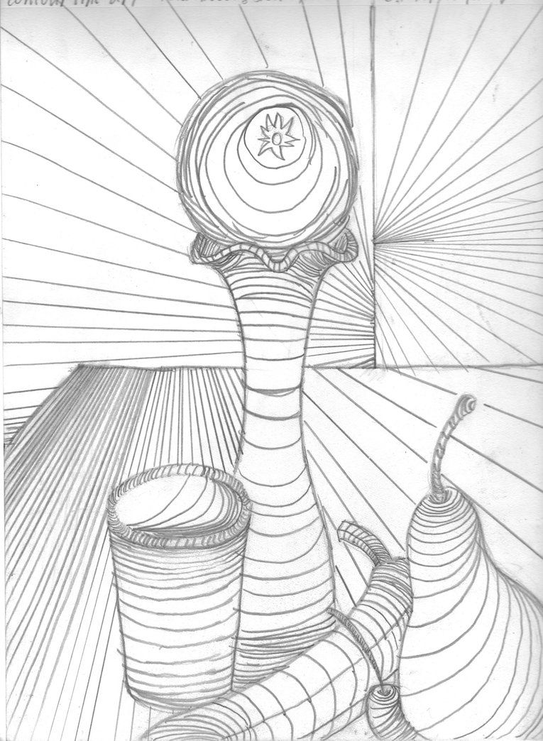 Cross Contour Line Drawing Lesson Plan : Cross contour still life by rustynaps on deviantart