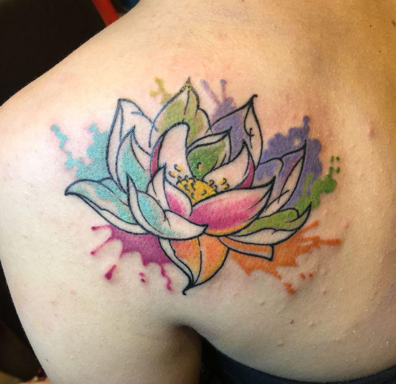 Flor De Loto Acuarela Imagen Pinterest Tatoo And Tattoo
