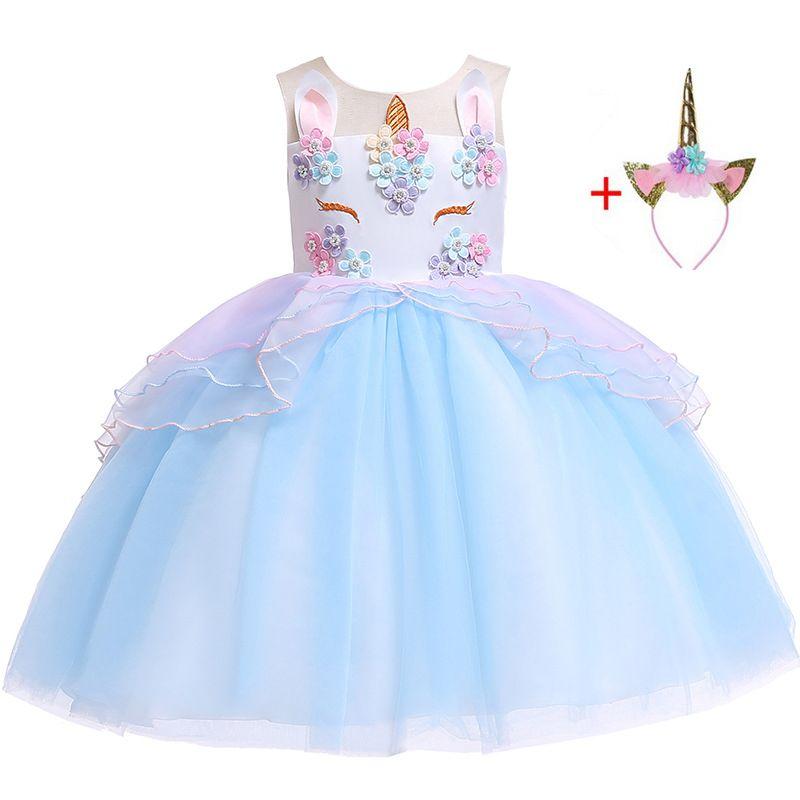 5c4093ff5882d Kids unicorn dress baby girls party dress vestido unicornio | Girl ...