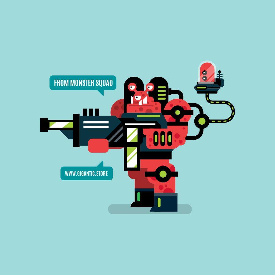 Gigantic Store Game Design Flat Design Illustration Illustration Design