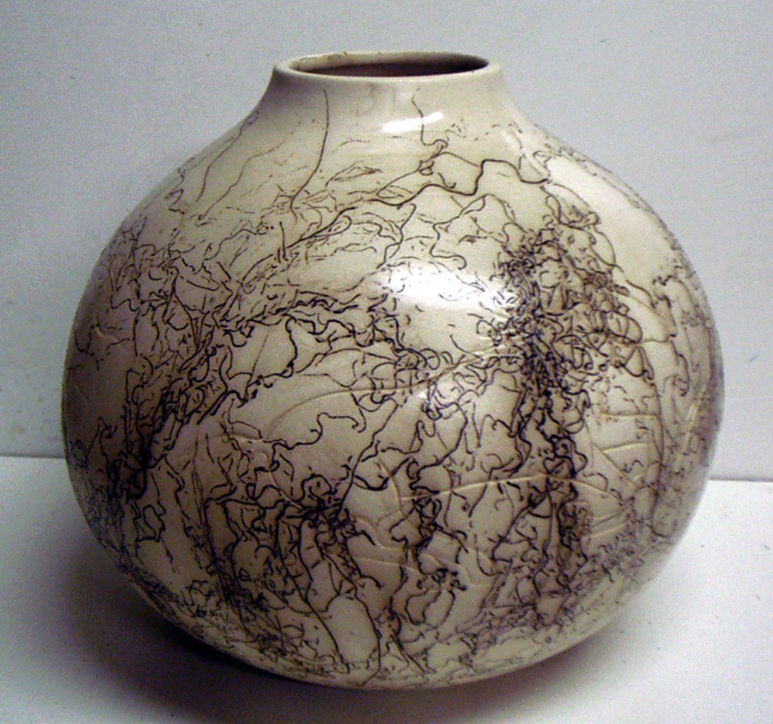 the best time of the day: horse hair pottery.