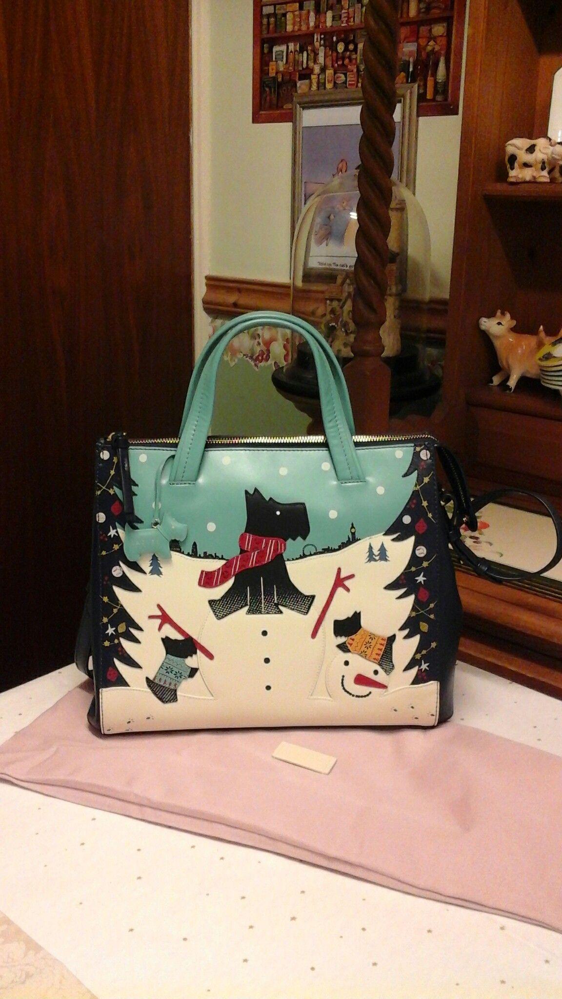 Fun Scottie Dogs In Snow Handbag Probably By Radley Of London