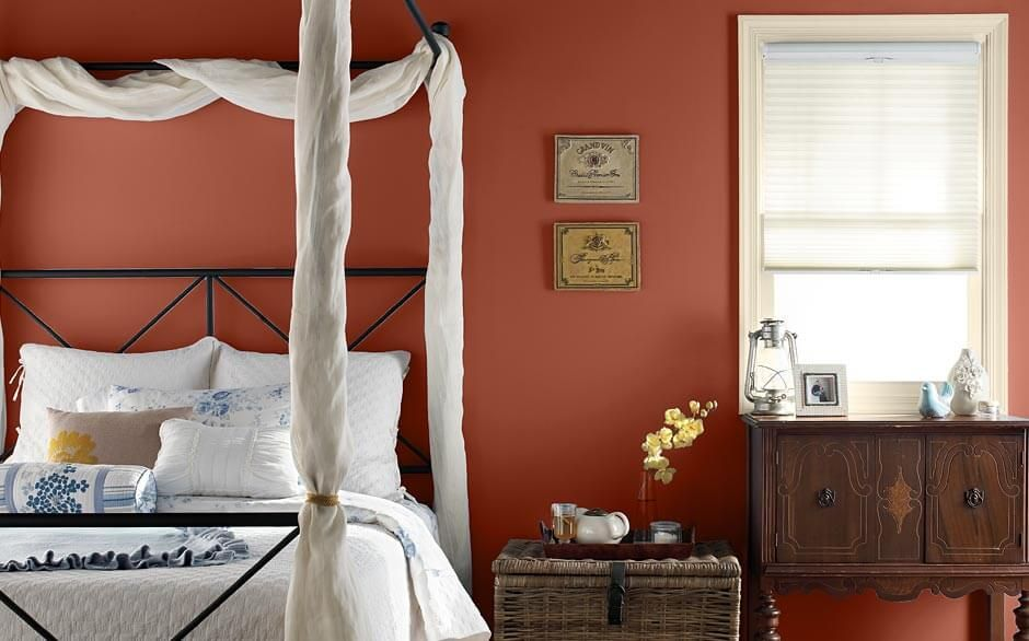 sunset orange for accent wall bedroom Behr® Kalahari Sunset | For the Home in 2019 | Behr paint