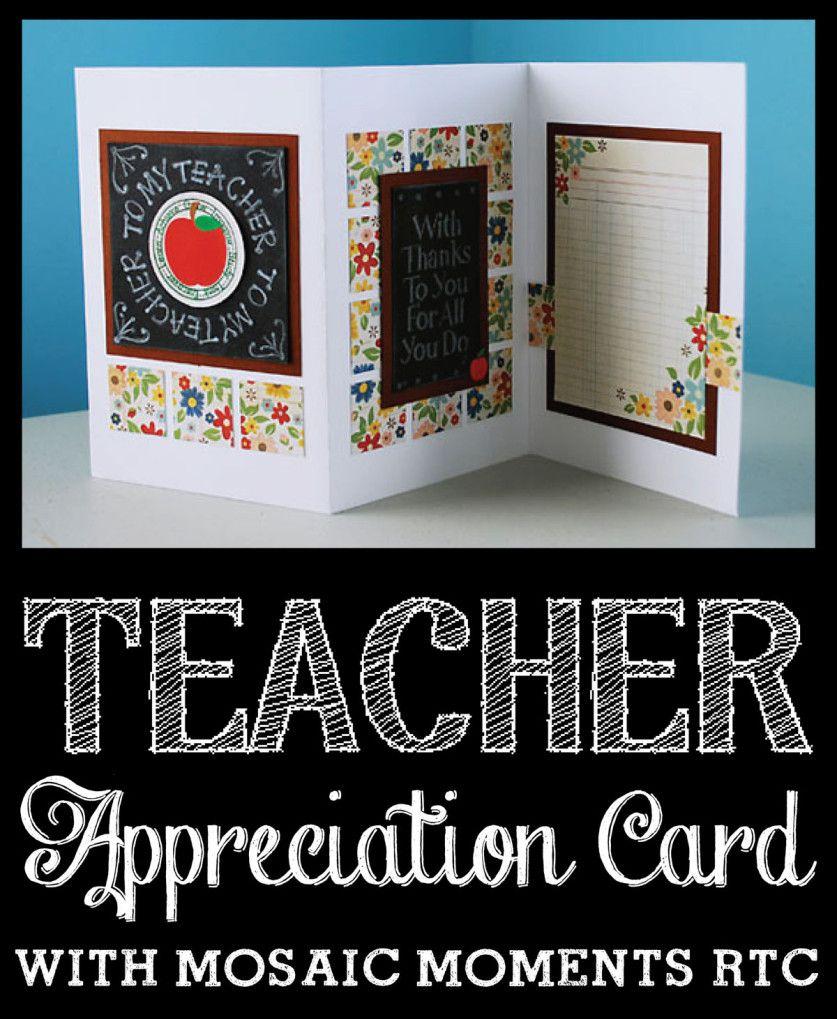 Teacher Appreciation Card - So Cute! I love the chalkboard look