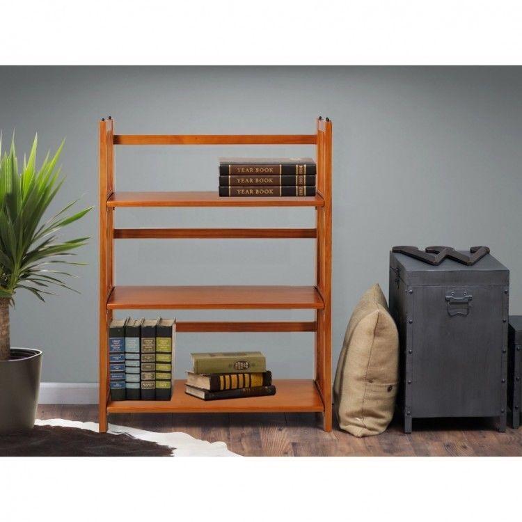 US $94.57 #foldingbookcase #dormroomfurniture Folding Bookcase Stackable Dorm Room Furniture Book Organizer Space Saver