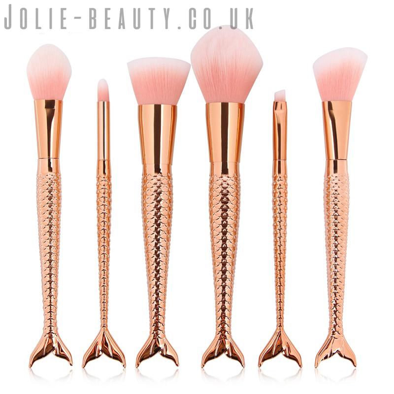 Rose Gold Mermaid Makeup Brushes. Vegan & Cruelty free