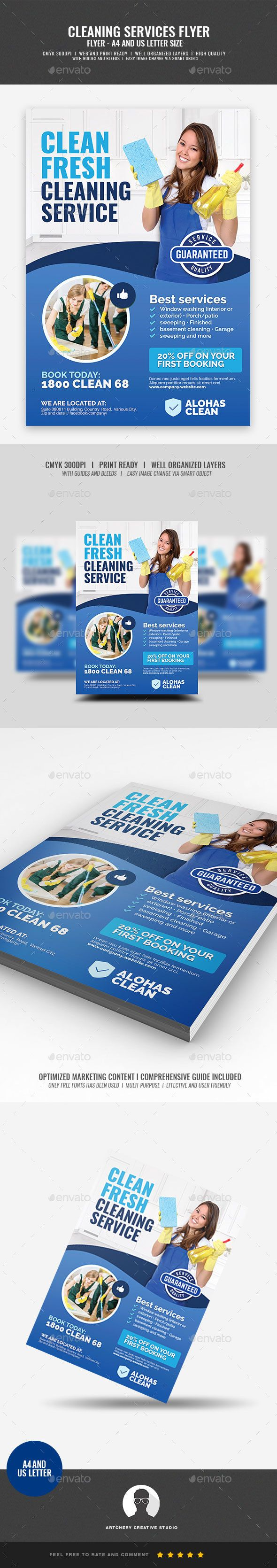 commercial house cleaning services flyer template psd