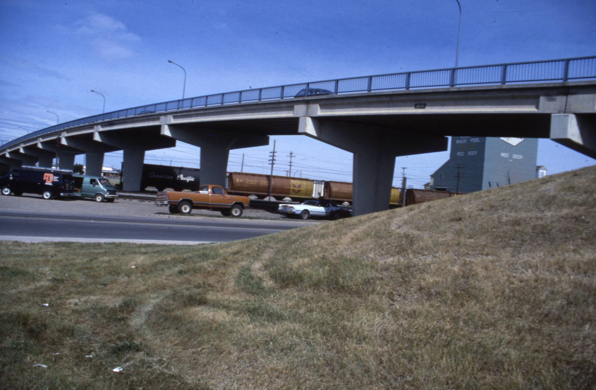 The 45th St overpass, 1980. The overpass was removed in