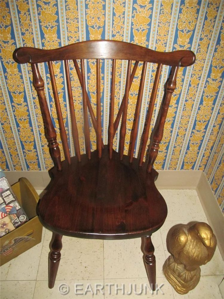Ethan Allen Duxbury Windsor Side Chair Antiqued Old Tavern Pine