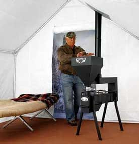 Gravity Fed Non Electric Pellet Stove Bug Out Survival Shelters In