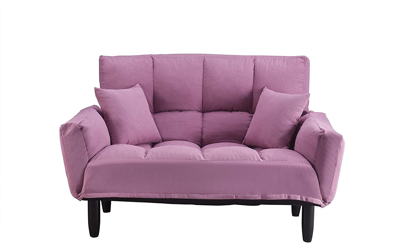 Modern Round Arm Sofa Tufted Sleeper Couches With Solid Wood Legs Bed Recliner Couch Pink Furniture Sofa Couch In 2020 Recliner Couch Sleeper Couch Modern Round