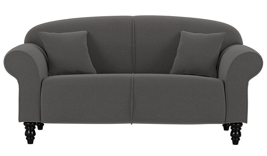 George Home Elliott Compact Sofa In Fine Velvet Olive
