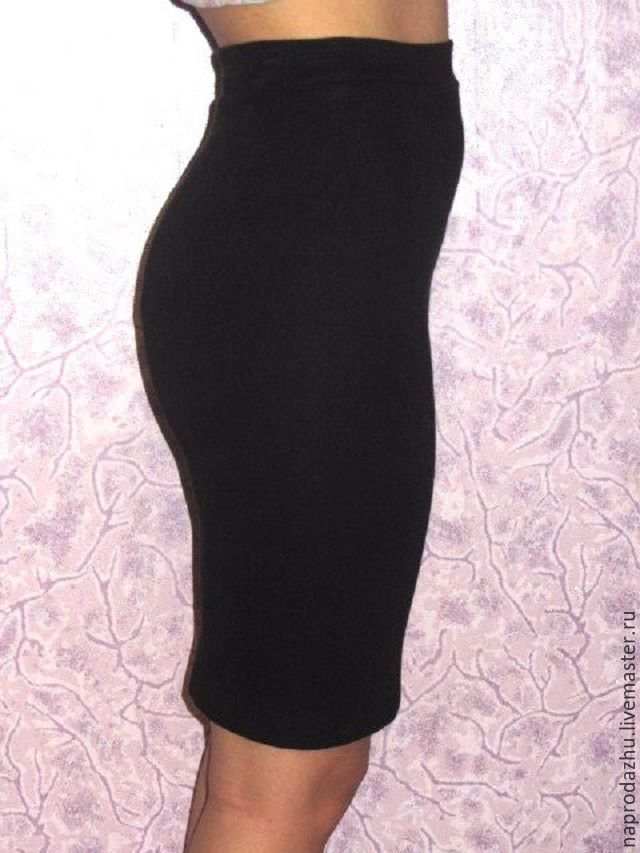 abd17e5d1c8 Купить трикотажная юбка карандаш резинка - черный