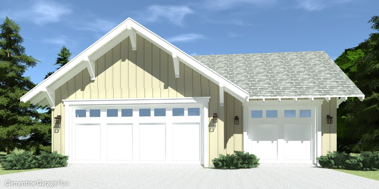 3 Car Farmhouse Garage 10 Foot Ceilings Craftsman House Plans House Plans Detached Garage