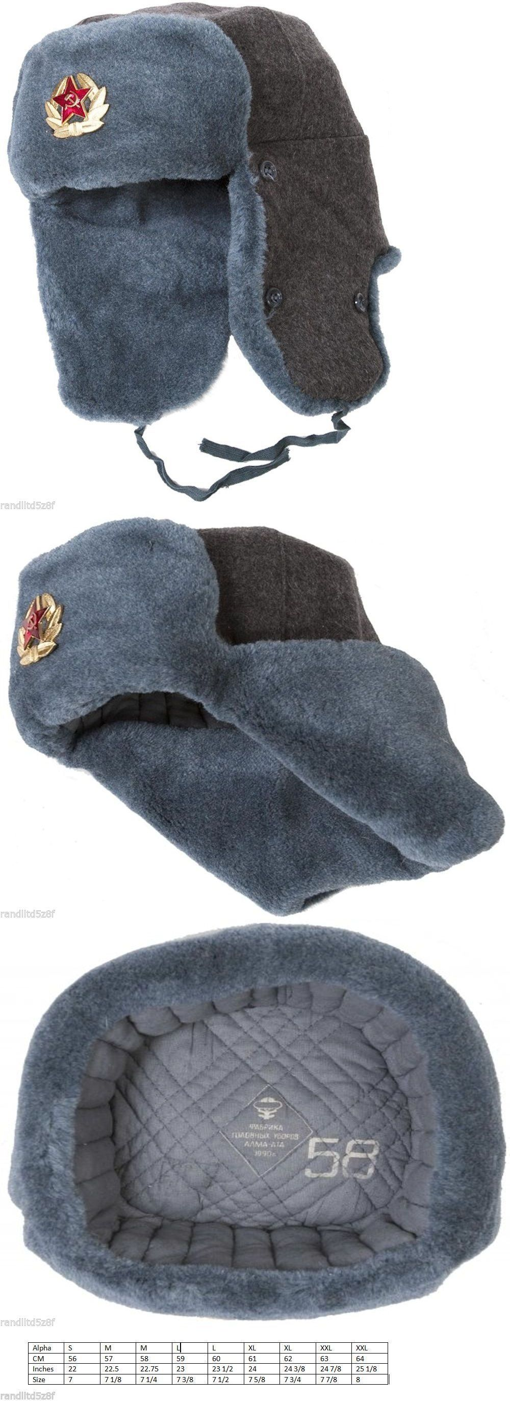 5e5a7917459a6 Hats 57884  Ussr Vintage Russian Army Ushanka Winter Hat