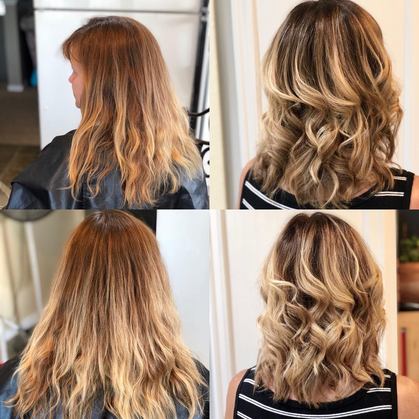 Did My Moms Hair She Needed A Good Trim We Also Retouched The Roots And Touched Up Her Balayage A Little Now She Looking Fabu In 2020 Mom Hairstyles Balayage Hair