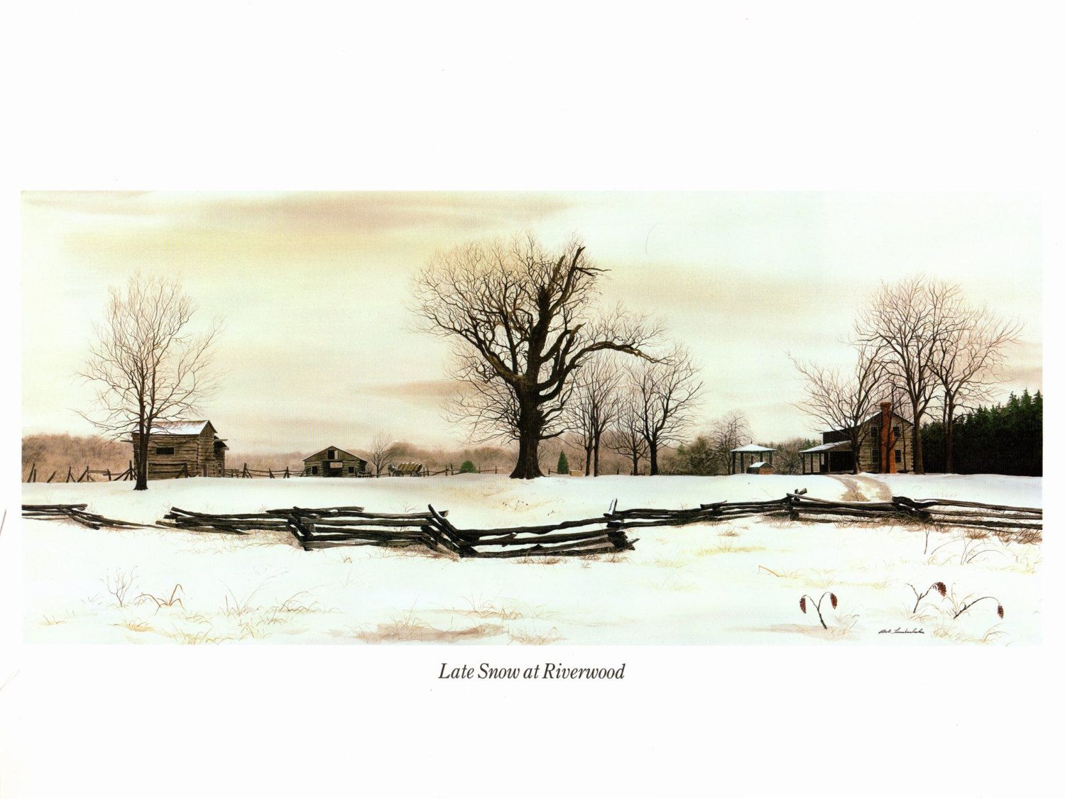 Late Snow at Riverwood painted by Bob Timberlake for the book ...