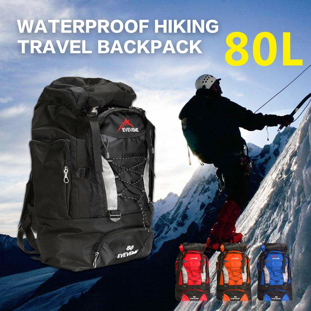 1500dda64b NEW 80L Outdoor Sport Trekking Backpack big Rucksack Bag Waterproof Luggage  Bag For Camping Hiking Travel