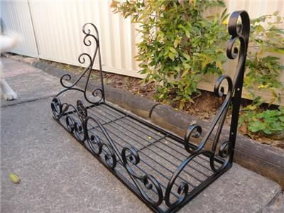 Wrought Iron French Style Wall Flower Pot Plant Holder Rack Window