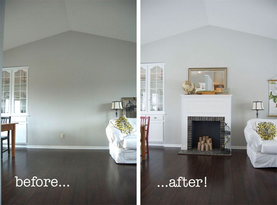 How to build a faux fireplace -- this seems so tacky, but I ...
