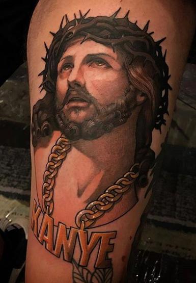 Pin On Kanye West Tattoos