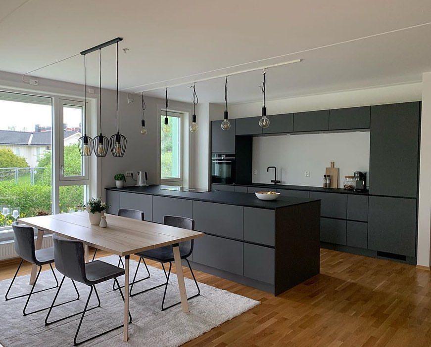 141 Likes 3 Comments Kvik Kvikkitchen On Instagram An Absolutely Stunning Dark Grey Prato Kitchen In The Ho Keuken Ontwerp Keuken Idee Keuken Ontwerpen