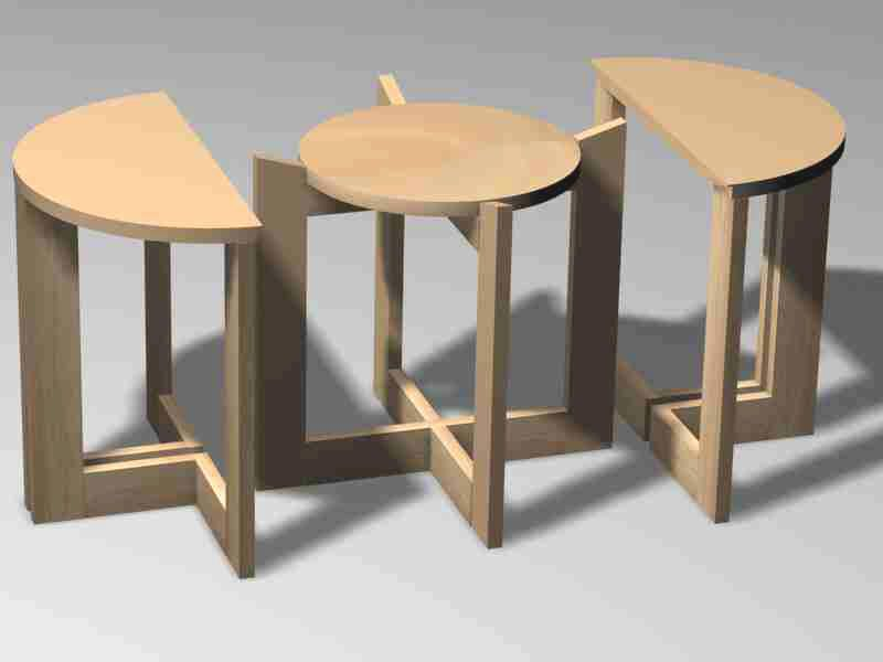Beautiful Nesting Furniture. Modern Contemporary Unusual Round Nest Of Tables Nesting  Furniture