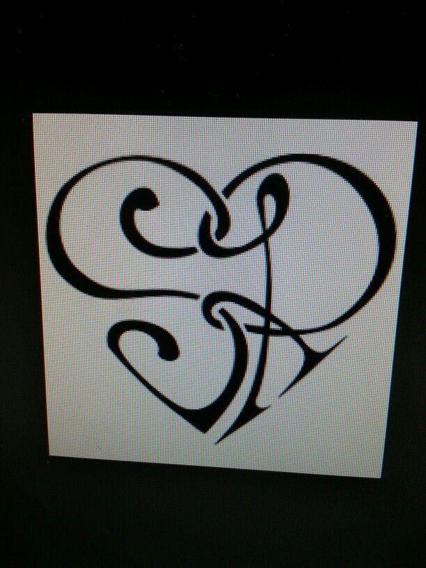 Cute Tattoo Idea S R Initial Tattoo Lettering Fonts Tattoo