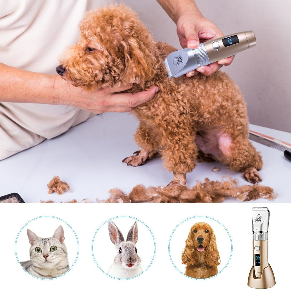 Hatteker Grooming Clippers Cordless Pet Hair Clippers Trimmer
