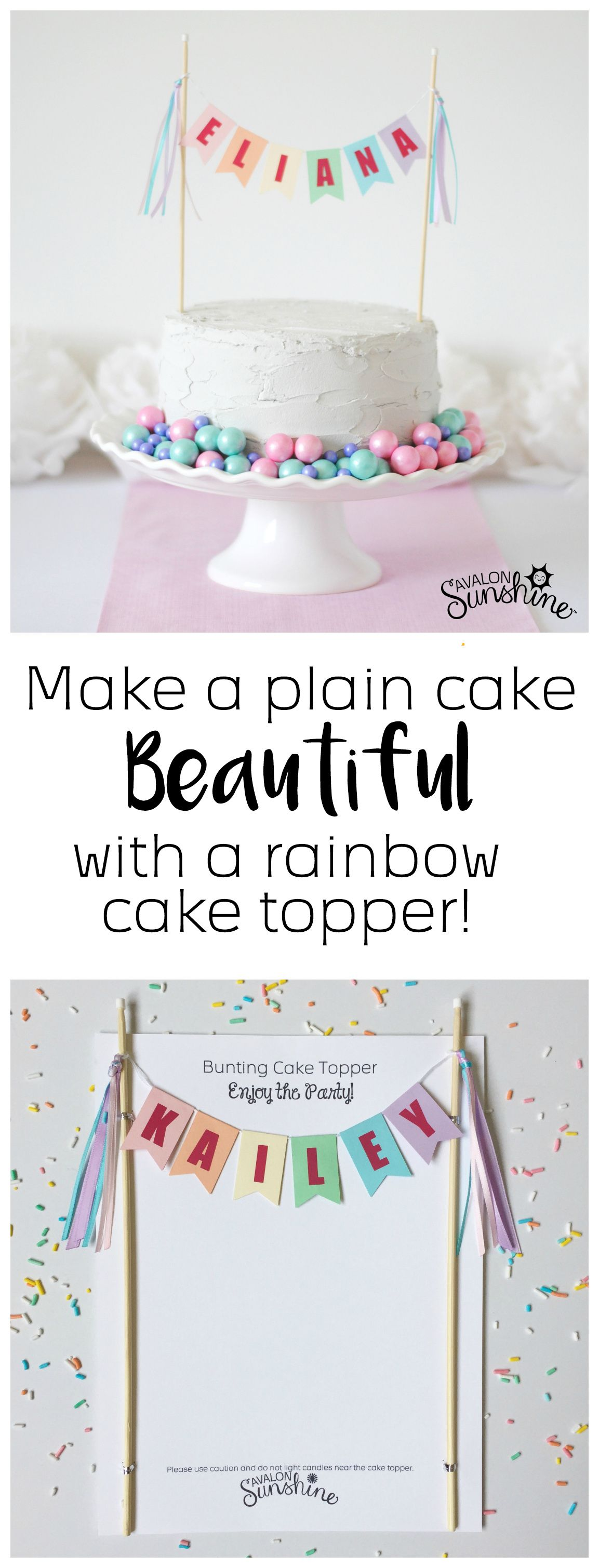 Rainbow Name Cake Topper In 2019 The Best Of Avalon