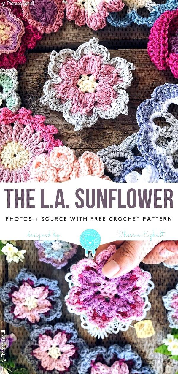 Most recent Pics Crochet flowers for beginners Thoughts  The L.A. Sunflower Free Crochet Pattern