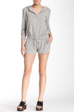 66d822764492 Zip Up Hoodie Romper Jumpsuit Dress