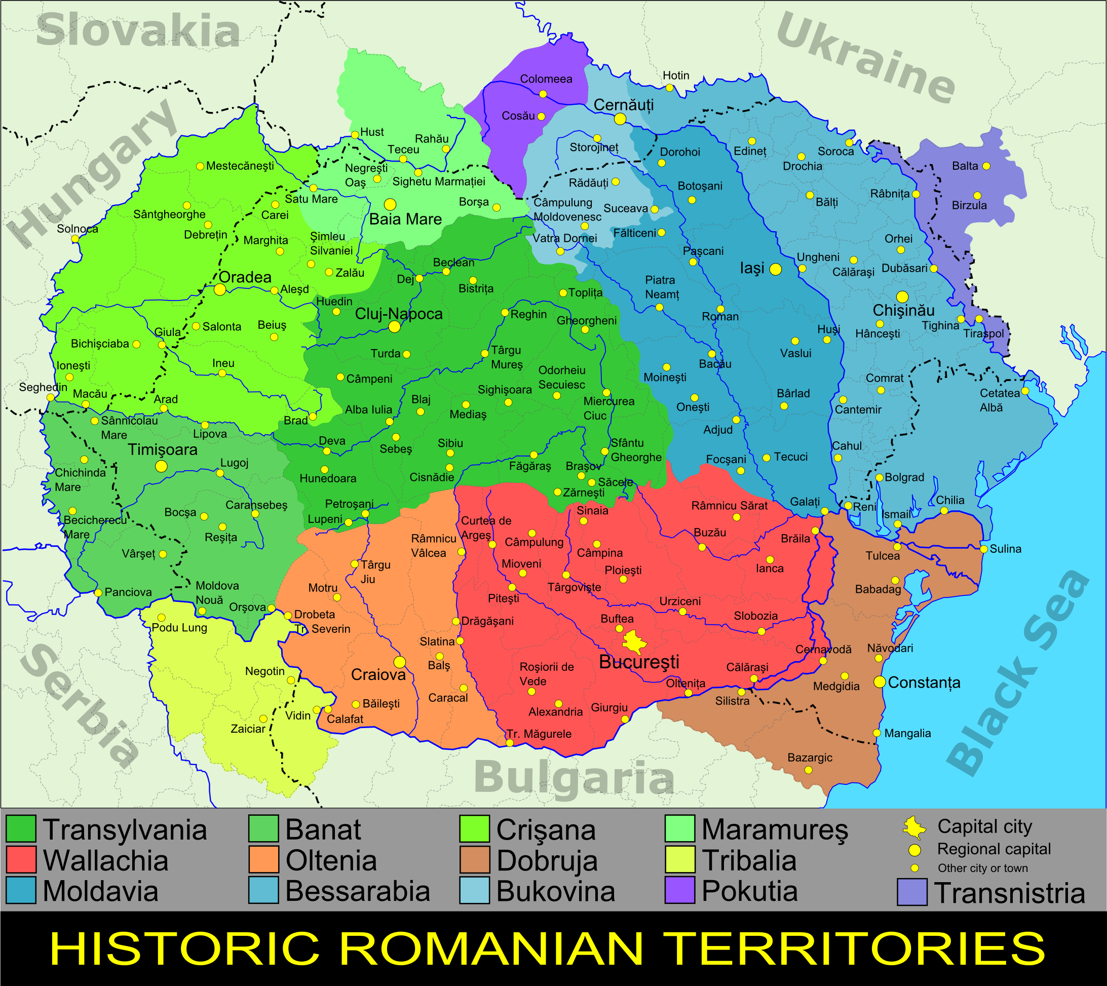 Historic Romanian territories