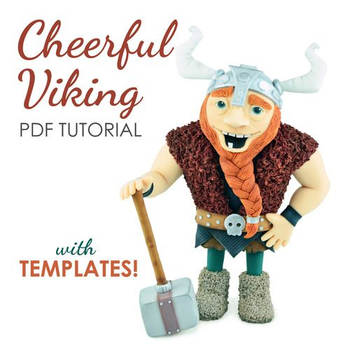 Cheerful Viking Cake topper tutorial, Tutorial, Mermaid