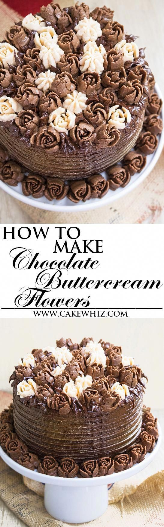 Learn how to make BUTTERCREAM FLOWERS witch chocolate ...