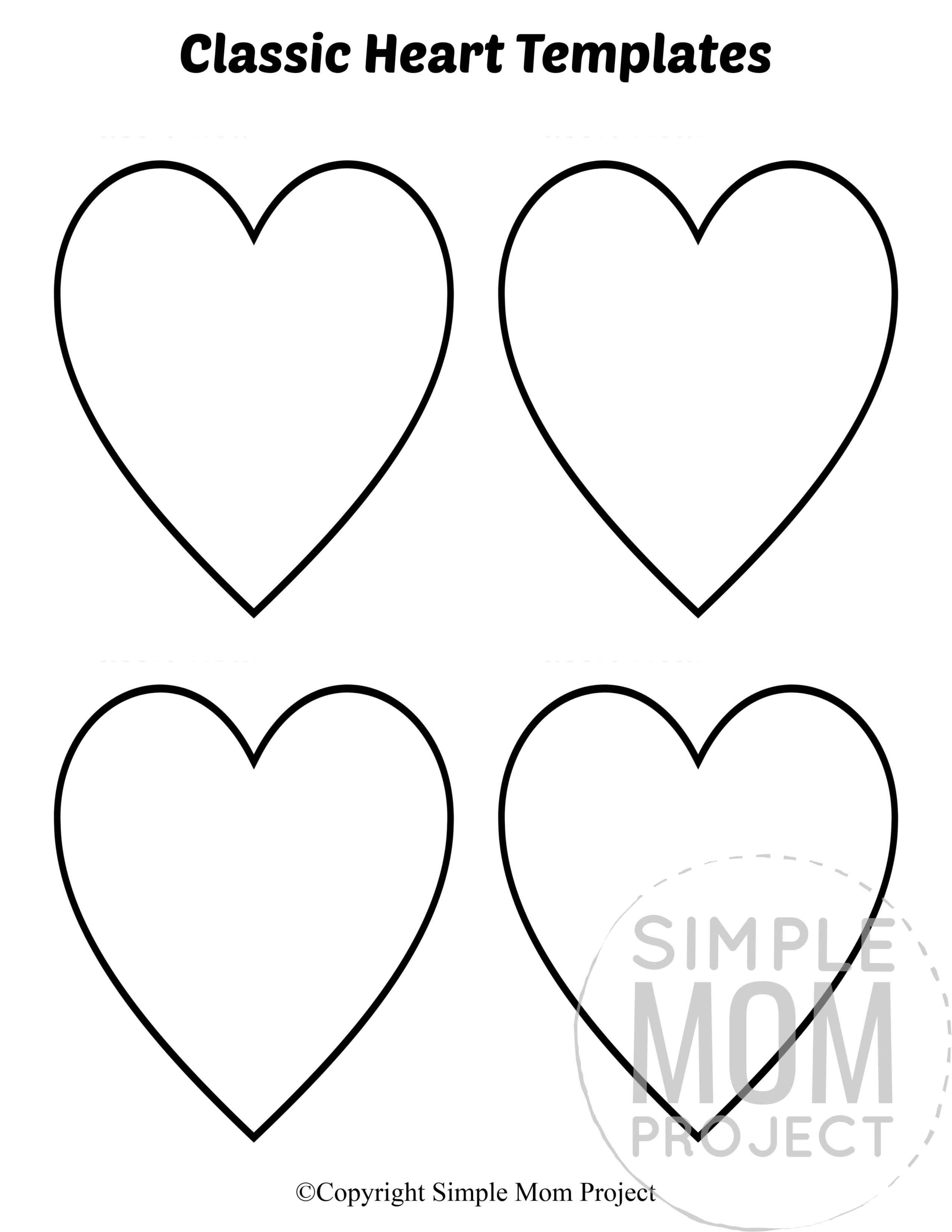 Free Printable Small Heart Shape Templates In With