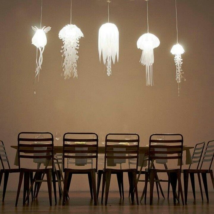 Jellyfish pendant lights