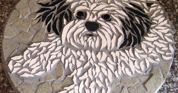 Pet Portrait Mosaic Stone.   loisirs créatifs   Pinterest   Pet Portraits, Mosaics and Portrait