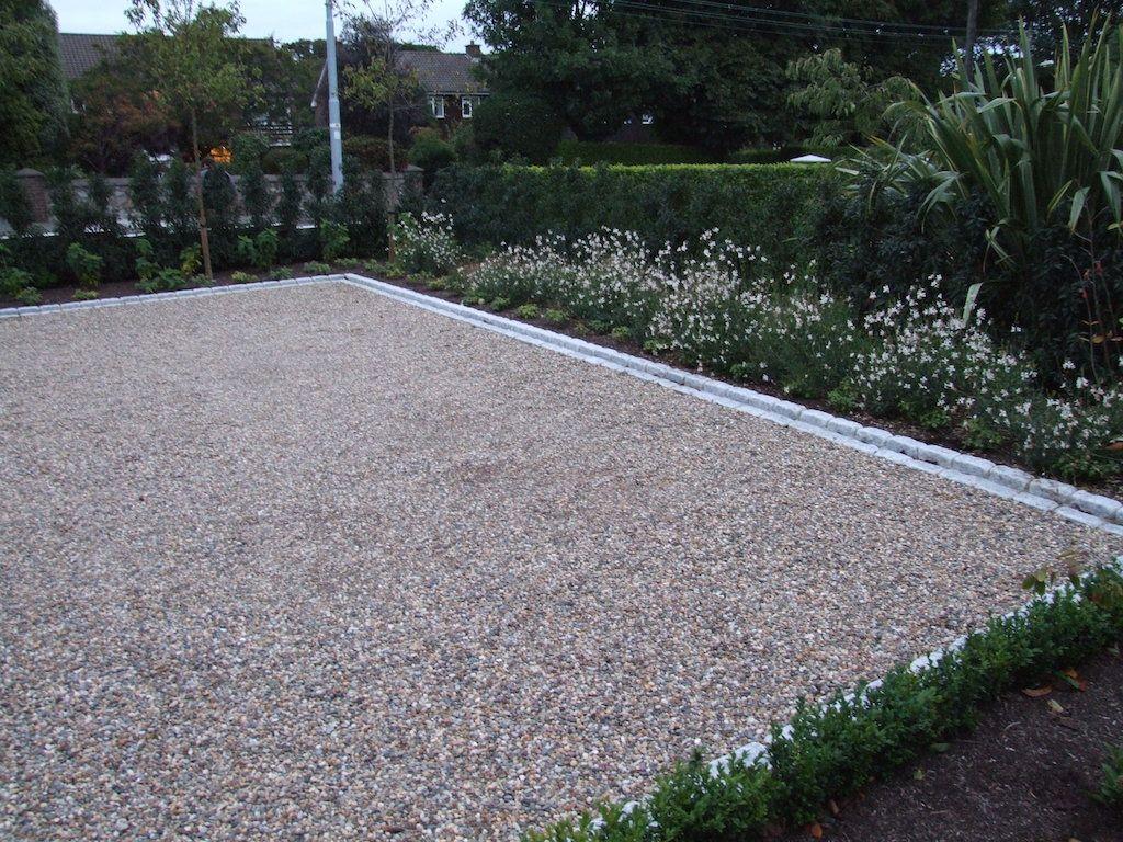 Gravel Driveway Edging Google Search Driveway Landscaping Low Maintenance Garden Gravel Garden